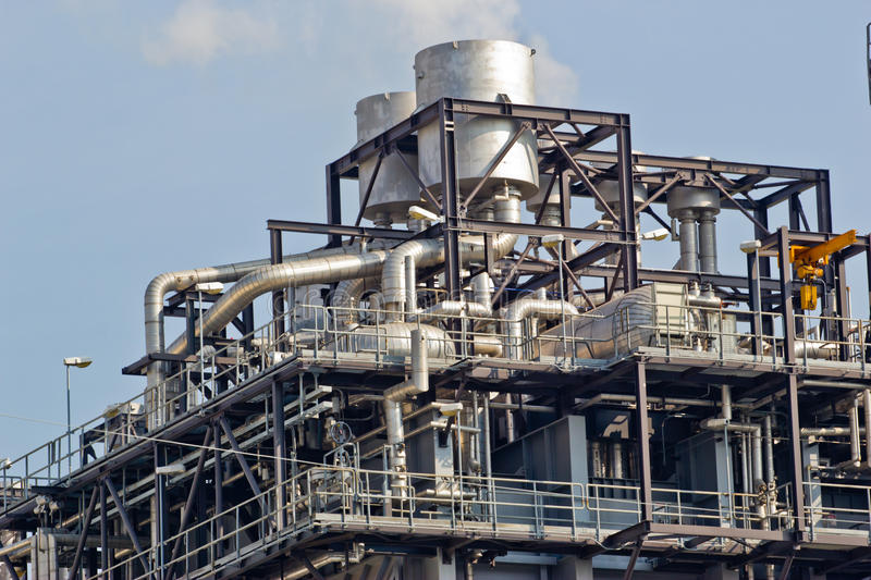Gas processing factory stock photography
