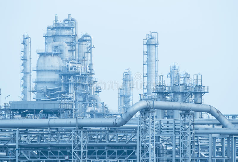 Gas processing factory. landscape royalty free stock images