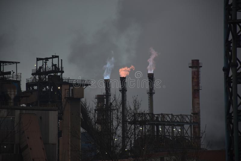 Gas processing factory stock photos
