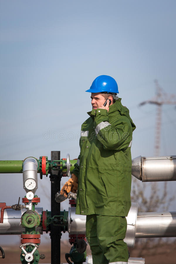 Download Gas Production Operator stock photo. Image of engineering - 27761834