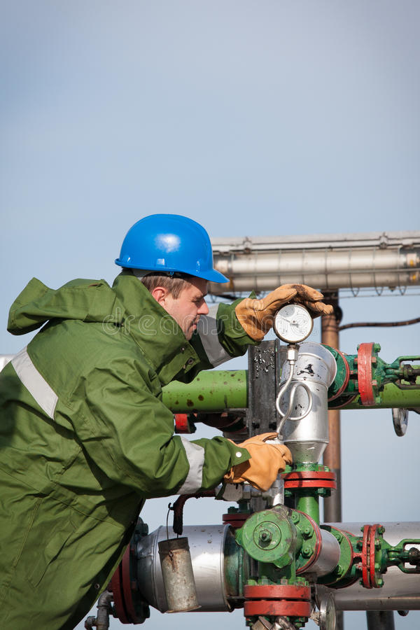 Download Gas Production Operator stock photo. Image of engineering - 27762028