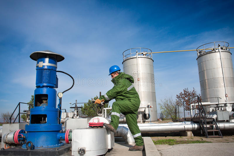 Download Gas Production Operator stock image. Image of person - 27930219
