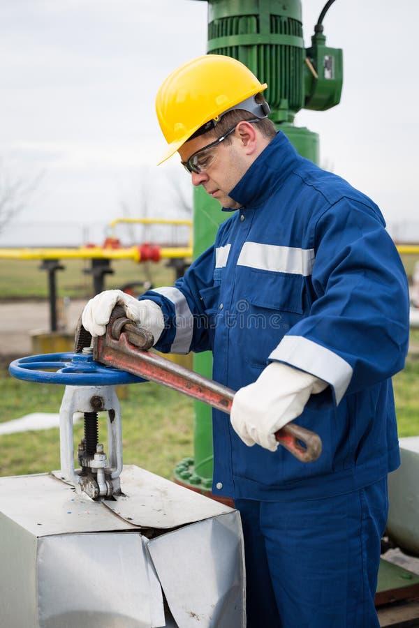 Gas Production Operator stock image. Image of energy - 49066849