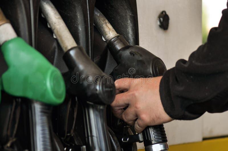 Gas pump. Close-up of a gas pump stock photos