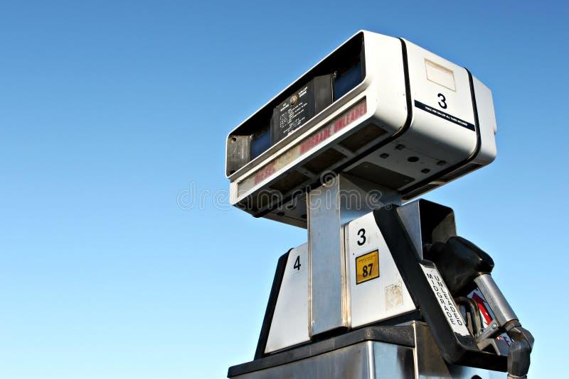 Gas pump closeup royalty free stock photography
