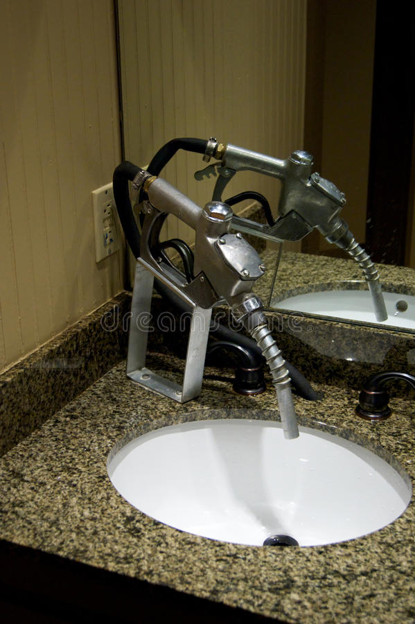 Download Gas Pump Nozzle As Water Faucet Stock Photo - Image: 26798022