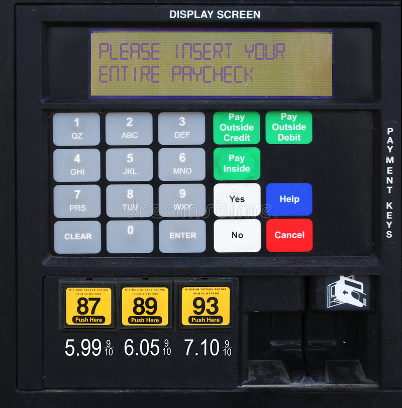 Free Gas Pump Prices Royalty Free Stock Photo - 4154775