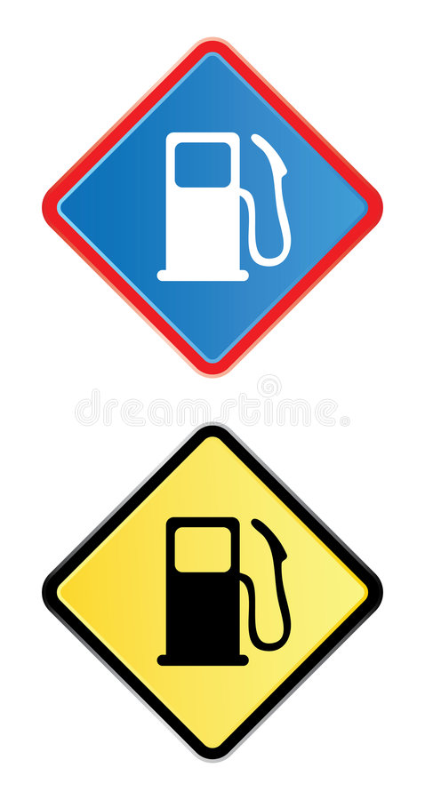 Download Gas pump road sign stock vector. Illustration of element - 7212337