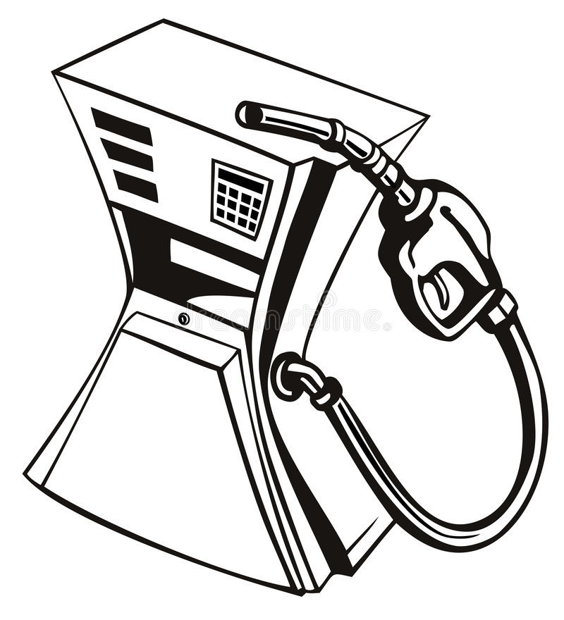 Gas pump squeezed vector illustration