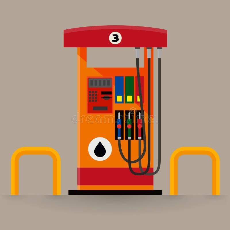 Gas pump station royalty free illustration
