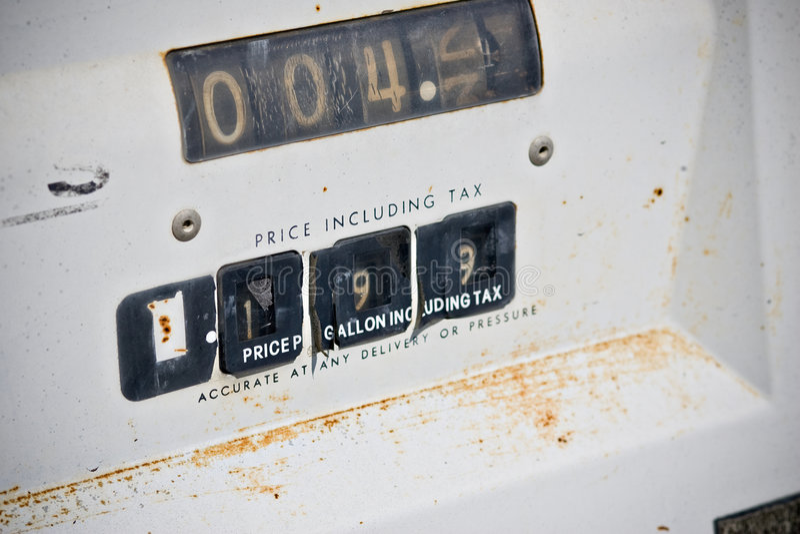 Gas-Pumpe stockfotos