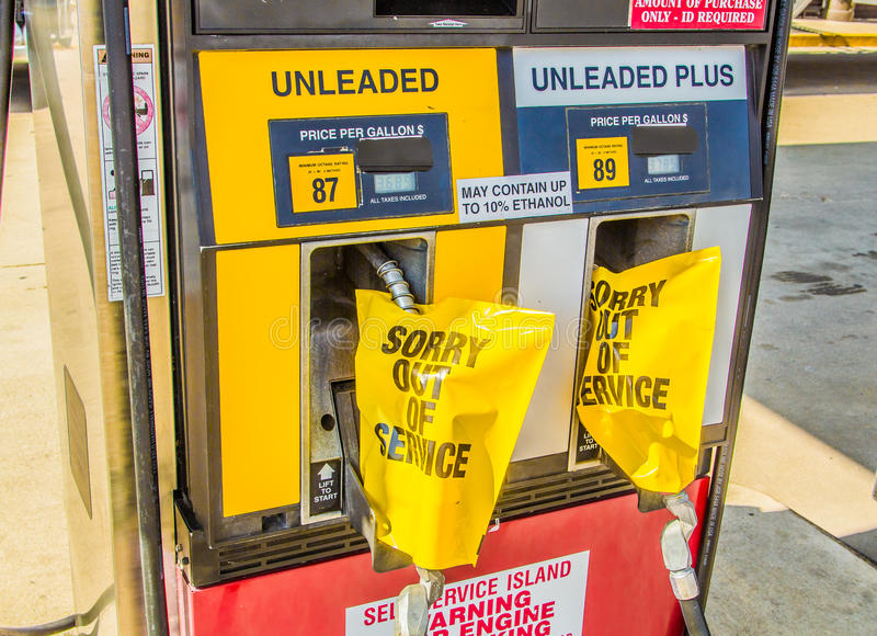 Gas-Pumpen außer Dienst lizenzfreie stockfotos