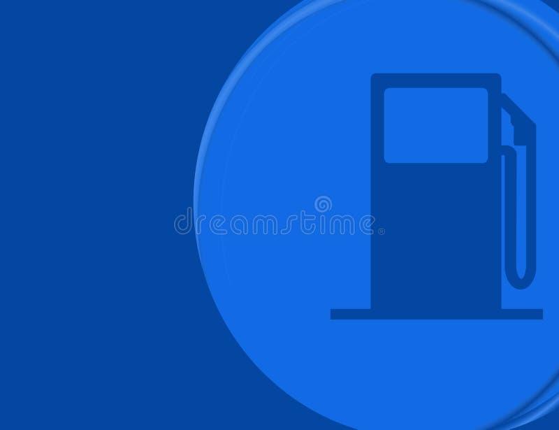 Gas-Pumpenhintergrund mit copyspace stock abbildung