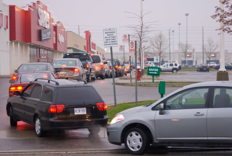 Download Gas  Queue In The Parking Lot Editorial Stock Image - Image: 5076919