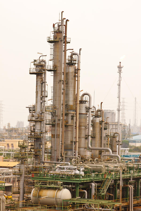 Gas refineries plants royalty free stock photography
