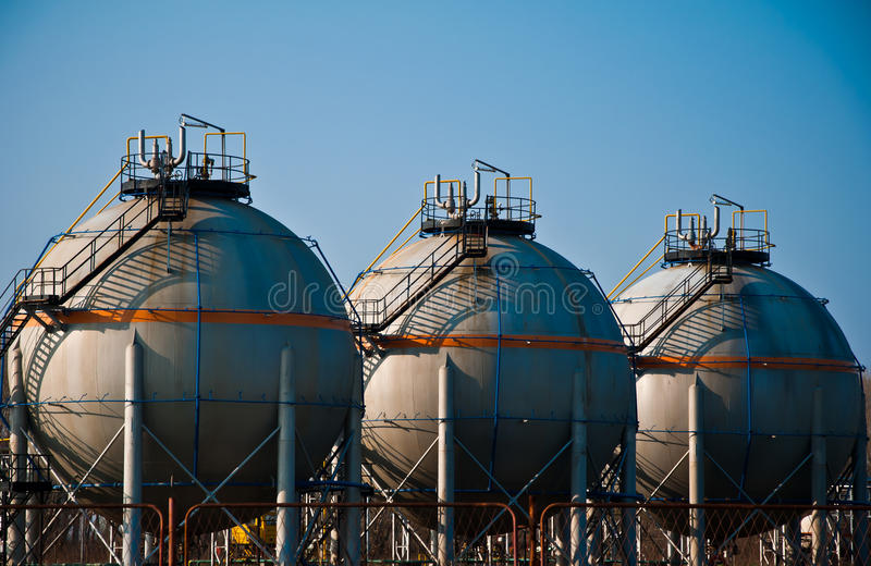 Download Gas refinery stock image. Image of metal, depot, pipes - 19000575