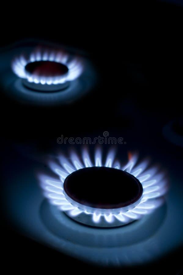 Gas-rings stock image