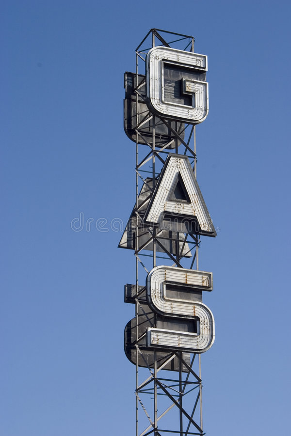 Download Gas Sign 2 stock image. Image of fuel, marquee, petrol - 456953