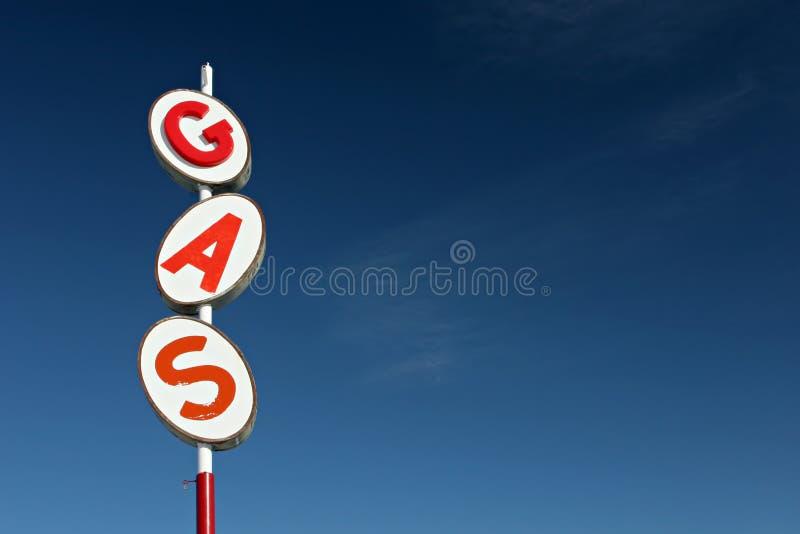 Gas sign retro royalty free stock image