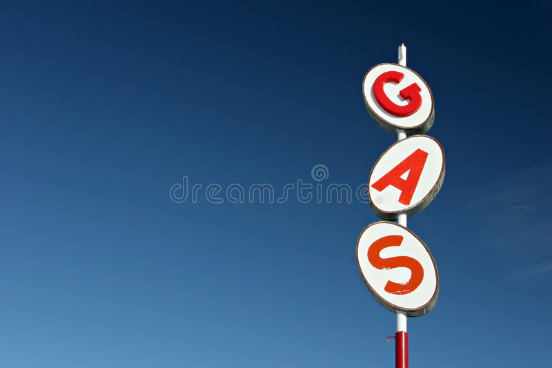 Gas sign retro royalty free stock photography