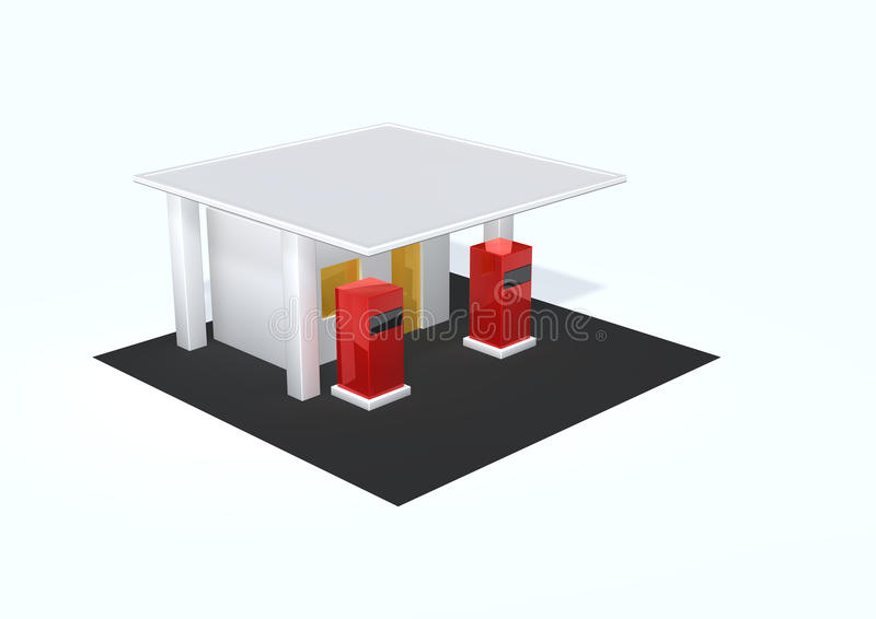 Download Gas station stock illustration. Image of station, road - 15086792