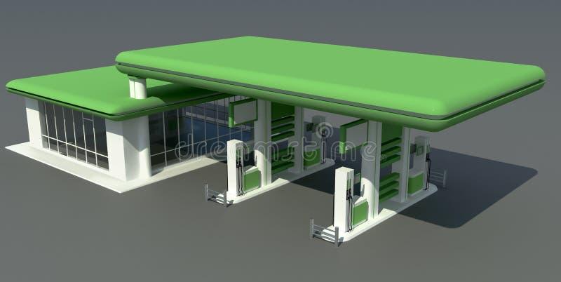 Download Gas station stock illustration. Image of green, transport - 23497383