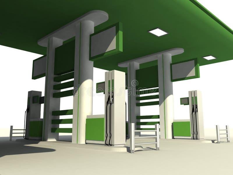 Gas station stock illustration