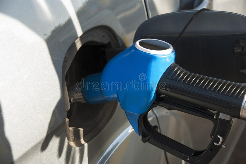 At The Gas Station Royalty Free Stock Photo