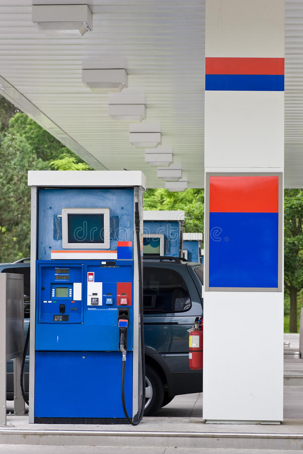 Gas Station Gas Pump stock photo