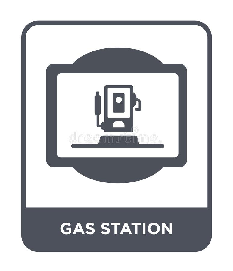 gas station icon in trendy design style. gas station icon isolated on white background. gas station vector icon simple and modern vector illustration