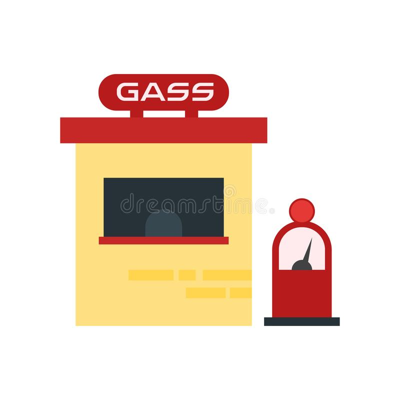 Gas station icon vector sign and symbol isolated on white background, Gas station logo concept royalty free illustration
