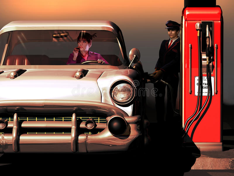 Download Gas station loving stock illustration. Image of petrol - 35431917