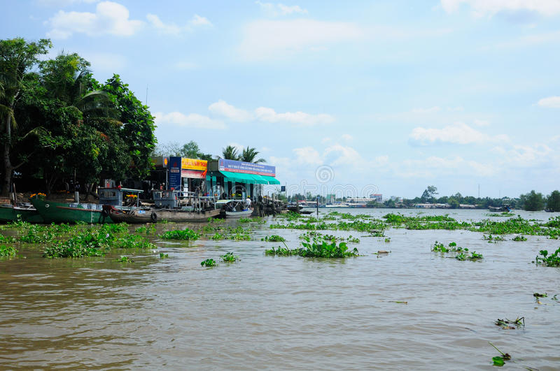 Gas Station on the Mekong River stock photos