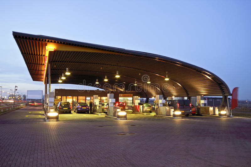 Gas Station In The Netherlands Stock Photos