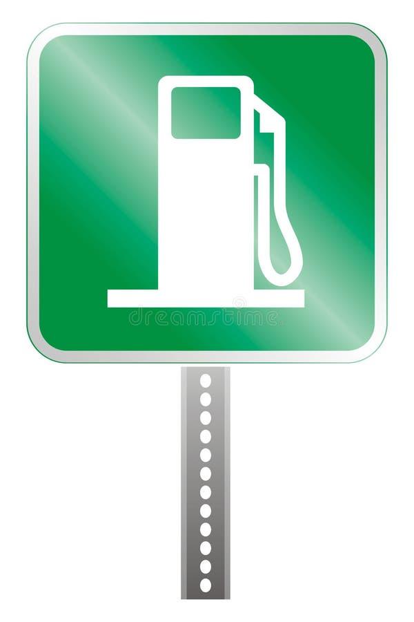 Gas station plate vector illustration