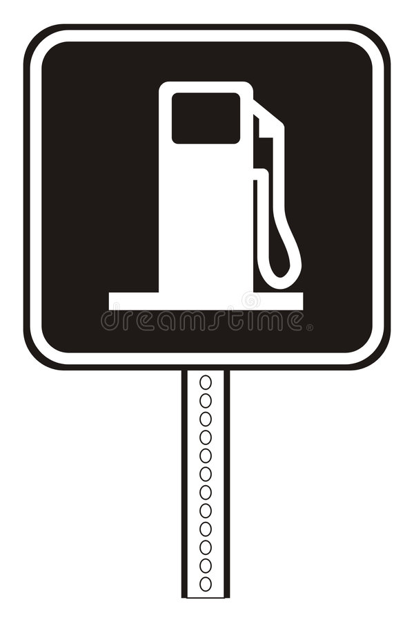 Gas station plate royalty free illustration