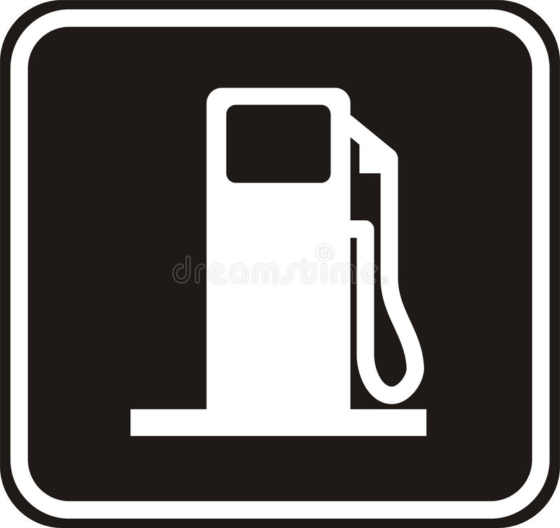 Gas station plate stock illustration