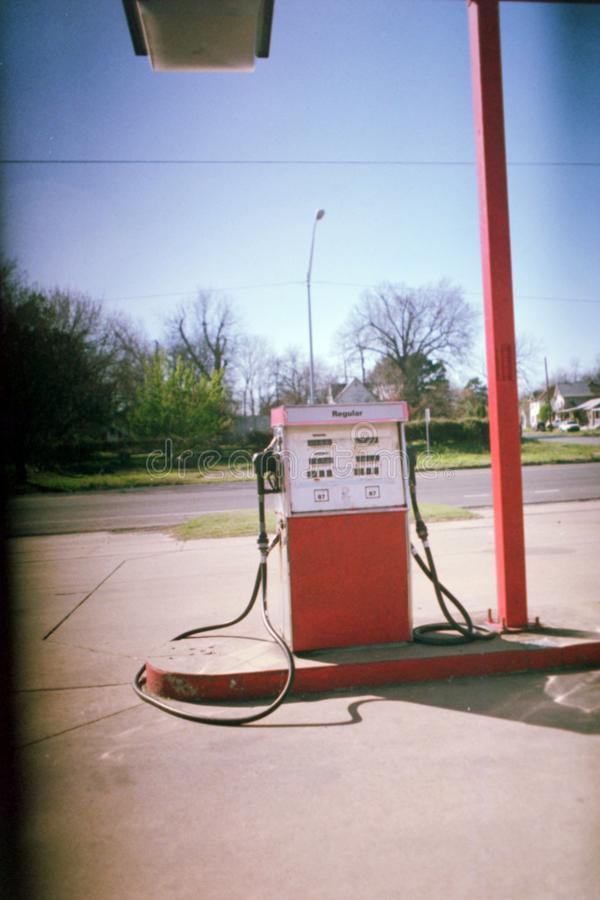 Gas Station Red stock photos