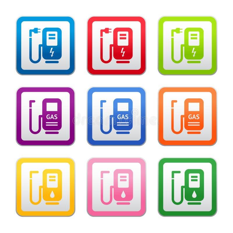 Download Gas Station Sign, Symbol, Pictogram, Color Stock Image - Image: 20507201