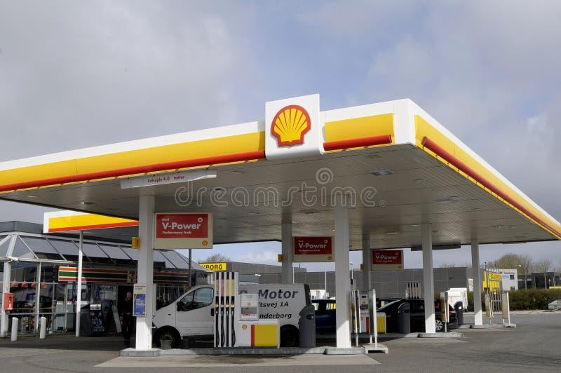 GAS STION DI SHELL fotografia stock