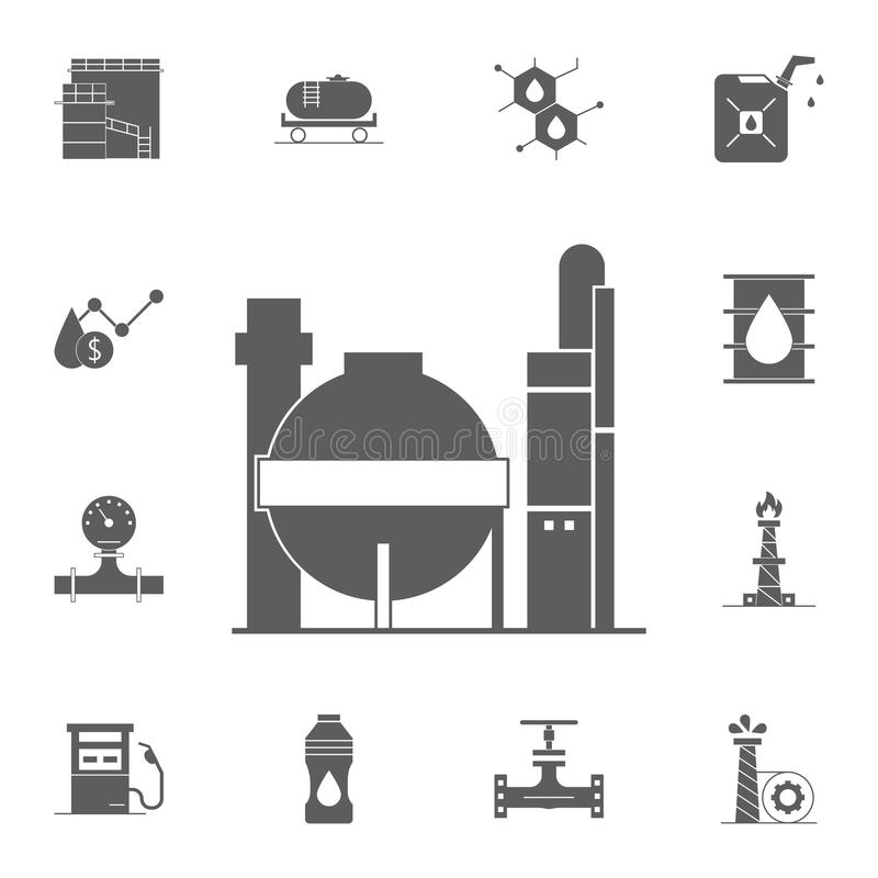 gas storages icon. Detailed set of Oil icons. Premium quality graphic design sign. One of the collection icons for websites, web d vector illustration