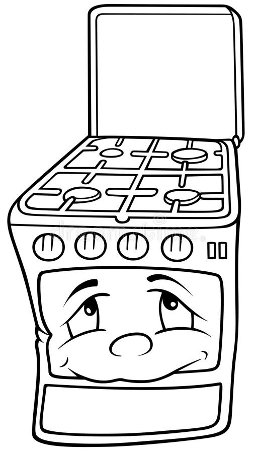 stove clipart black and white. download gas stove royalty free stock images image 17916229 black cartoon illustration white clipart and