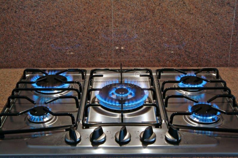 Gas stove royalty free stock photos