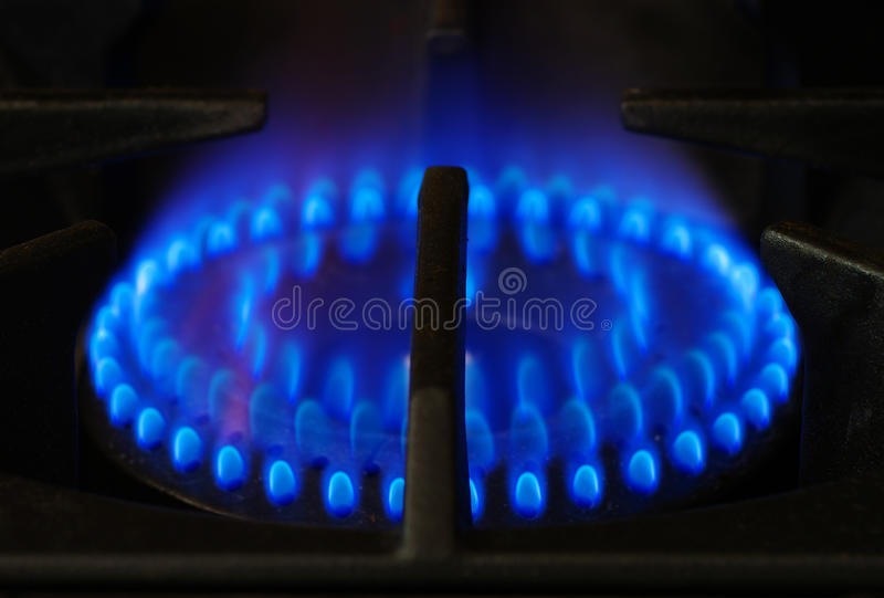 Gas stove burner royalty free stock images