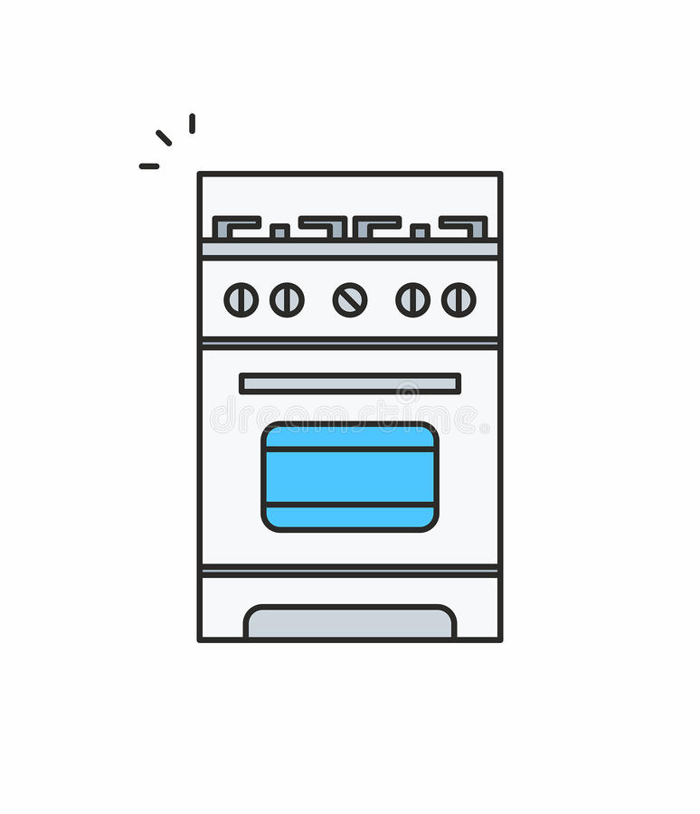 Gas stove icon vector illustration