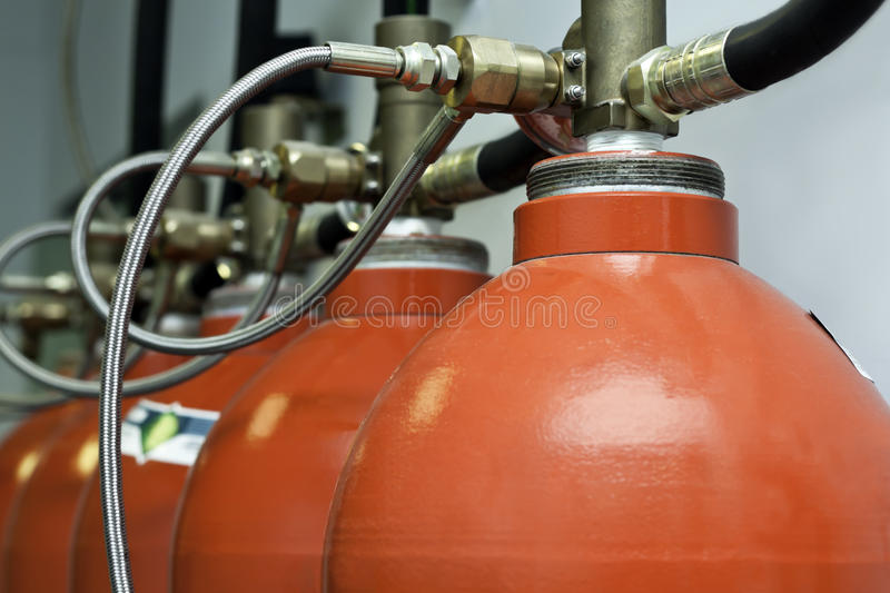 Gas supressent system royalty free stock photography