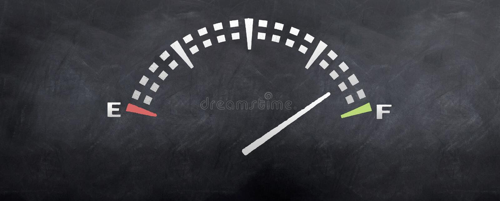 Gas Tank Reading Stock Images