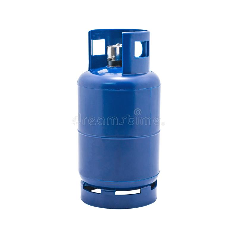 Free Gas Tank With Lighters Holder Isolated On White Background. LPG Gas Bottle. Stock Photos - 135604123