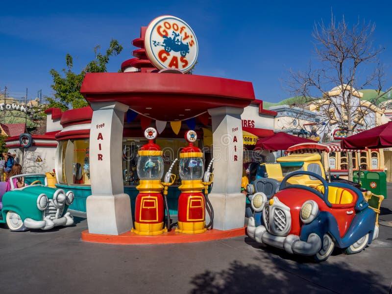 Gas torpe en Toontown, Disneyland fotografía de archivo libre de regalías
