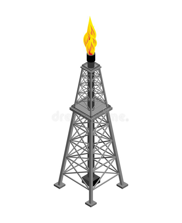 Gas tower Isometric . Industrial object. Vector illustration vector illustration